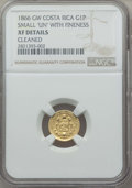 Costa Rica, Costa Rica: Republic gold Peso 1866-GW XF Details (Cleaned) NGC,...
