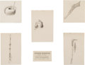Fine Art - Work on Paper, Frederic Remington (American, 1861-1909). Set of Five InteriorIllustrations for The Song of Hiawatha, 1889. Ink on boar...