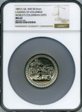 Expositions and Fairs, 1893 World's Columbian Exposition, Landing of Columbus Medal, Elgit-54, MS63 NGC. White Metal, 50.5mm....
