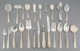 A One Hundred Fifty-Nine Piece S. Kirk & Son Repoussé Pattern Silver Flatware Group, Baltimore, Maryland...