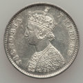 India:British India, India: British India. Victoria 1/2 Rupee 1893 XF - Hairlines,...