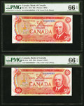 Canadian Currency, BC-51b $50 1975.. ... (Total: 2 notes)
