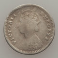 India:British India, India: British India. Victoria Mint Error 2 Annas ND (1877-1900) Fine,...