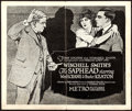 "Movie Posters:Comedy, The Saphead (Metro, 1920). Title Lobby Card (11"" X 13"").. ..."