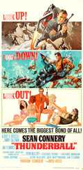 "Movie Posters:James Bond, Thunderball (United Artists, 1965). Three Sheet (41"" X 83."") FrankMcCarthy and Robert McGinnis Artwork.. ..."