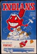 Baseball Collectibles:Programs, 1959 Cleveland Indians vs. Boston Red Sox Scorecard (7/27). . ...