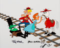 Animation Art:Presentation Cel, The Rocky and Bullwinkle Show Dudley Do-Right Signed SceneCel (Jay Ward, 1989)....