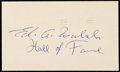 "Autographs:Post Cards, Ed Walsh ""Hall of Fame"" Singed Government Postcard. . ..."