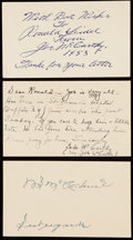 Autographs:Post Cards, 1953 Joe McCarthy & Bill McKechnie Signed Government PostcardLot of 3, with Mrs. Joe McCarthy.. ...