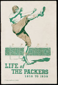 Football Collectibles:Publications, 1939 Green Bay Packers Booklet.. ...