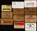 Autographs:Others, Lot of 11 Passes from the Beans Reardon Collection.. ...