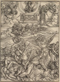 Fine Art - Work on Paper:Print, Attributed to Albrecht Dürer (1471-1528). The Four AvengingAngels of Euphrates, from The Apocalypse, circa 1497.Wo...