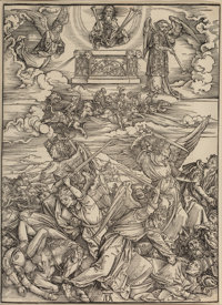 Attributed to Albrecht Dürer (1471-1528) The Four Avenging Angels of Euphrates, from The Apocalypse<