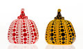 Collectible, Yayoi Kusama (b. 1929). Red and Yellow Pumpkin (two works), 2013. Painted cast resin. 4 x 3-1/4 x 3-1/4 inches (10.2 x 8... (Total: 2 Items)