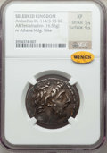 Ancients:Greek, Ancients: SELEUCID KINGDOM. Antiochus IX Eusebes Philopator(Cyzicenus) (114-95 BC). AR tetradrachm (16.56 gm). NGC XF 5/5 -4/5....