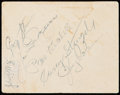 Autographs:Others, 1949 World Series Program, Ticket Stub, and Signed Invitation withDiMaggio & Stengel. . ...