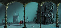 Eyvind Earle Sleeping Beauty Prince Phillip Background Color Key/Concept Painting (Walt Disney, 1959)