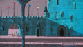 Animation Art:Concept Art, Eyvind Earle Sleeping Beauty Prince Return of Briar RoseBackground Color Key/Concept Painting (Walt Disney, 1959)...