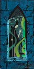 Animation Art:Production Drawing, Eyvind Earle Sleeping Beauty Maleficent Diorama Painting (Walt Disney, 1959)....