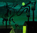 Animation Art:Concept Art, Mary Blair Peter Pan Off to Neverland Concept Painting (Walt Disney, 1953). ...