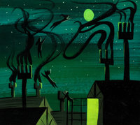Mary Blair Peter Pan Off to Neverland Concept Painting (Walt Disney, 1953)