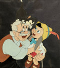 Animation Art:Color Model, Pinocchio Reunion Scene Color Model/Publicity CelCourvoisier Setup (Walt Disney, 1940)....