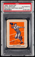 Autographs:Sports Cards, Signed 1952 Wheaties Otto Graham (Hand Cut) PSA/DNA Authentic....