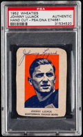 Autographs:Sports Cards, Signed 1952 Wheaties Johnny Lujack (Hand Cut) PSA/DNA Authentic....
