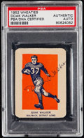 Autographs:Sports Cards, Signed 1952 Wheaties Doak Walker (Hand Cut) PSA/DNA Authentic....