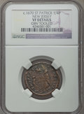(1670-75) FARTH St. Patrick Farthing -- Obv Tooled -- Details NGC. VF. NGC Census: (9/32). PCGS Population: (25/146). CD...