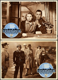 "Casablanca (Warner Brothers, R-1953). Italian Photobustas (3) (13.5"" X 19.25""). ... (Total: 3 Items)"