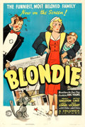 """Movie Posters:Comedy, Blondie (Columbia, 1938). One Sheet (27"""" X 41"""").. ..."""