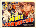 "Movie Posters:Western, The Cowboy and the Kid (Universal, 1936). Title Lobby Card (11"" X 14"").. ..."
