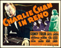 """Movie Posters:Mystery, Charlie Chan in Reno (20th Century Fox, 1939). Title Lobby Card(11"""" X 14"""").. ..."""