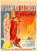 """Movie Posters:Drama, The Sign of the Cross (Paramount, 1932). French Moyenne (22.5"""" X31"""") Roger Soubie Artwork.. ..."""
