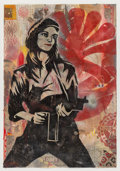 Fine Art - Work on Paper:Print, Shepard Fairey (American, b. 1970). Patty Hearst, 2004.Monotype in colors on paper. 43-1/2 x 30 inches (110.5 x 76.2 cm...
