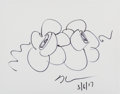 Fine Art - Work on Paper:Drawing, Jeff Koons (American, b. 1954). Flower Sketch, 2017. Ink onpaper. 8-1/4 x 10-3/4 inches (21 x 27.3 cm) (sight). Signed ...