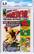 Silver Age (1956-1969):Superhero, Daredevil #1 (Marvel, 1964) CGC FN 6.0 Off-white to white pages....