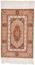 Rugs & Textiles:Hook Rugs, Four Persian Silk Prayer Rugs. 6 feet long x 3 feet wide (182.9 x91.4 cm) (largest, including fringe). PROPERTY FROM A LO... (Total:4 Items)
