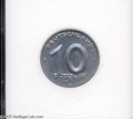 Germany:East Germany, Germany: East Germany. 10 Pfennig 1952-E, KM7, MS64 ANACS. A very scarce issue, particularly so in Mint State....