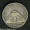 German Lots: , German Lots: A pair of early minor coins as follows: Munster 1/3 Taler 1764, KM204, VF; and a Reuss Untergreiz 1/8 Taler 1752-GHE, KM30, ... (Total: 2 coins Item)