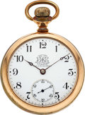 Timepieces:Pocket (pre 1900) , Ball Hamilton Triple Signed Official B of LE Standard. ...