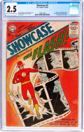Silver Age (1956-1969):Superhero, Showcase #4 The Flash (DC, 1956) CGC GD+ 2.5 Light tan to off-white pages....