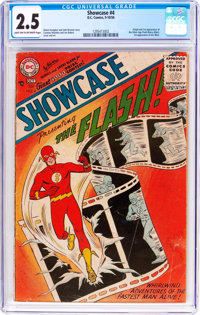 Showcase #4 The Flash (DC, 1956) CGC GD+ 2.5 Light tan to off-white pages