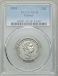 Coins of Hawaii , 1883 25C Hawaii Quarter XF45 PCGS. PCGS Population: (142/1813). NGCCensus: (54/1254). CDN: $125 Whsle. Bid for problem-fre...