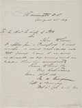 Military & Patriotic:Indian Wars, Myles Keogh: Autograph Letter Signed to the Secretary of State, August 23, 1869.... (Total: 2 Items)