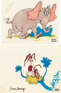 Animation Art:Limited Edition Cel, Chuck Jones Horton Hears a Who Limited Edition Hand-ColoredPrints Group of 2 (MGM/Chuck Jones, 1970).... (Total: 2 Items)