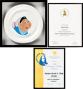 Animation Art:Production Drawing, Mulan Grandmother Fa Illustration by Bill Justice and Award Citations Group of 3 (Walt Disney, 1998).... (Total: 3 Items)