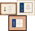 Animation Art:Limited Edition Cel, Academy Award-Related Citation Group of 3 (Academy of MotionPicture Arts and Science, 1977-2005).... (Total: 3 Items)