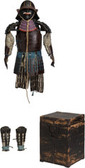 Asian:Japanese, A Japanese Samurai Armor with Box, Edo Period, 19th century. 48inches high (121.9 cm) (approximate). ...